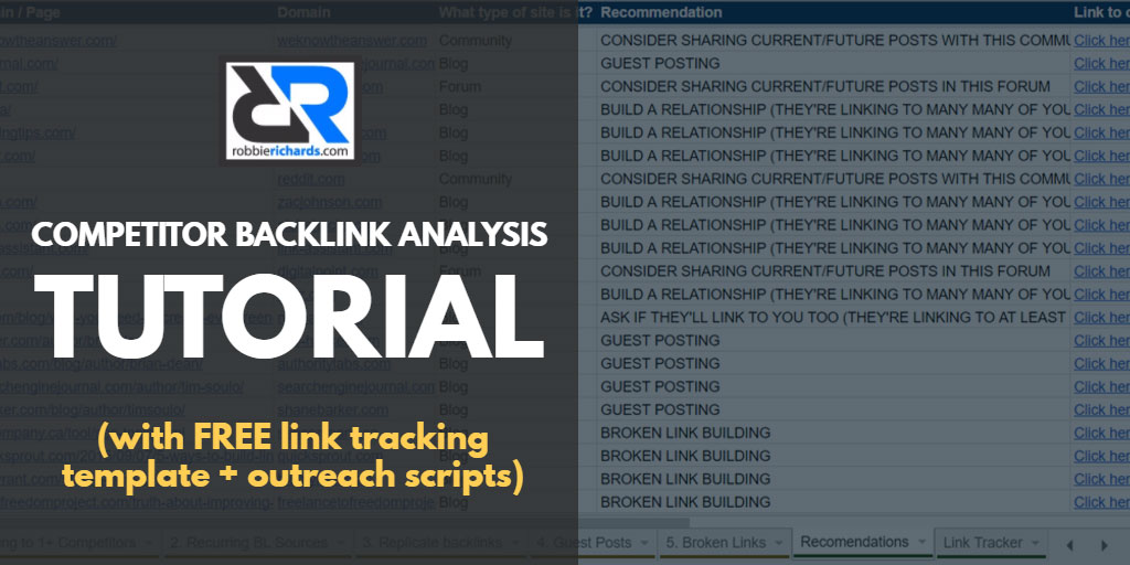 Competitor Backlink Analysis: A-Z Guide (with Link Tracking Template)
