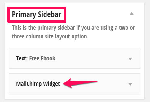 Sticky widget for email signups