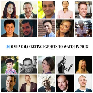 80 Online Marketing Experts To Watch In 2015 (By Category)