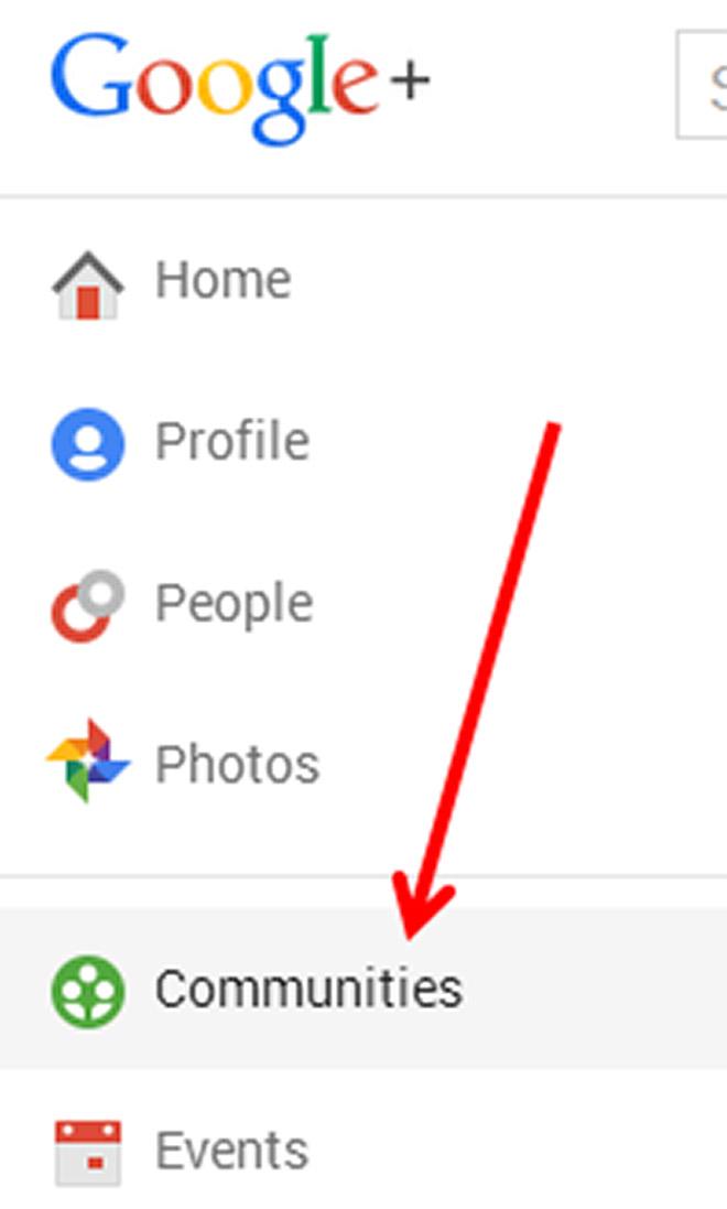 Select Google Plus Communities for content promotion