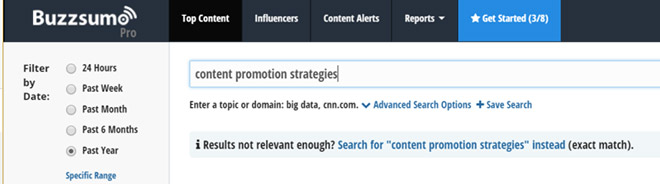 How to use Buzzsumo for content promotion