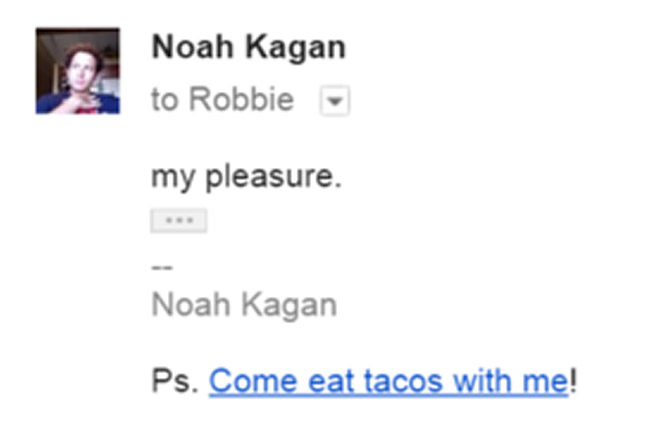 Email outreach response from Noah Kagan