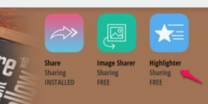 Use the SumoMe Highlighter app to promote your blog posts.