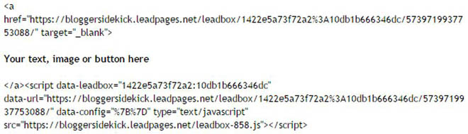 Code for LeadBox copy