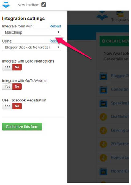 Integrate lead magnet with your email service provider copy