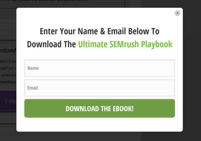 Two step opt-in form popup