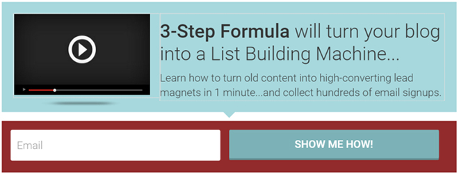 List building with form animations
