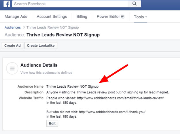 Building your email list with facebook custom audiences