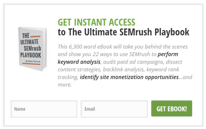 SEMrush in-content form