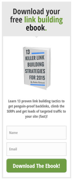 Link building sidebar opt-in
