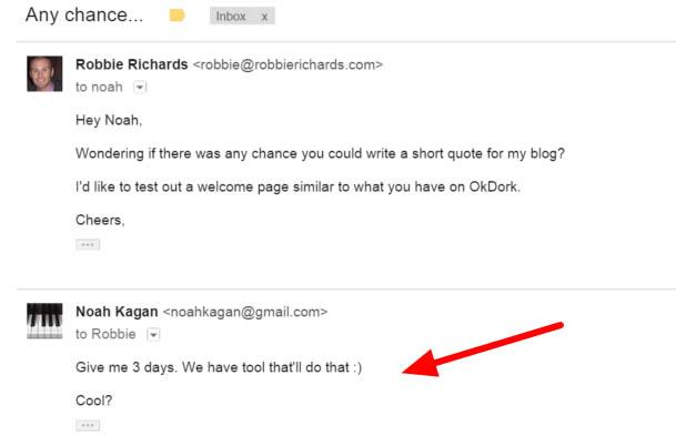 Noah Kagan testimonial