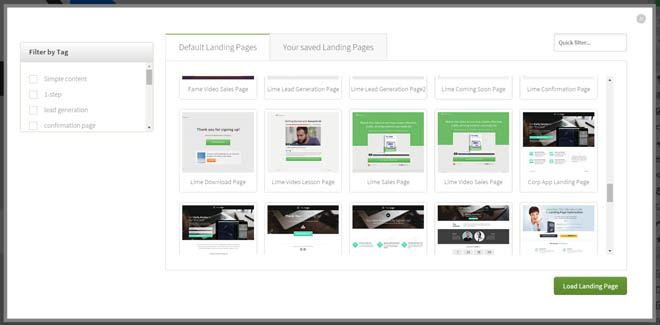 Thrive content builder landing page templates