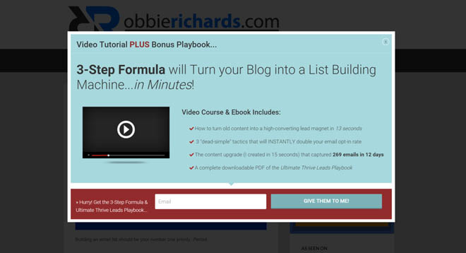 List building popup content upgrade