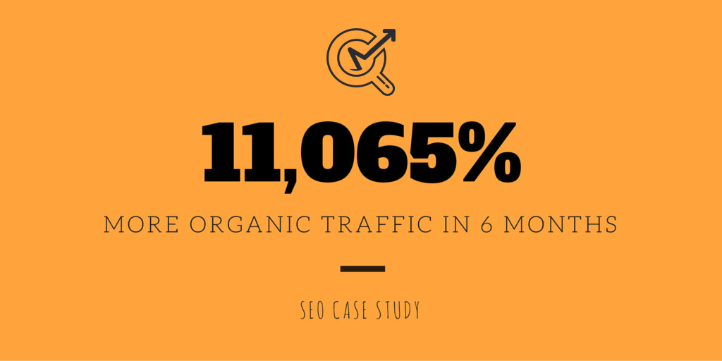 SEO Case Study: 11,065% More Organic Traffic in 6 Months