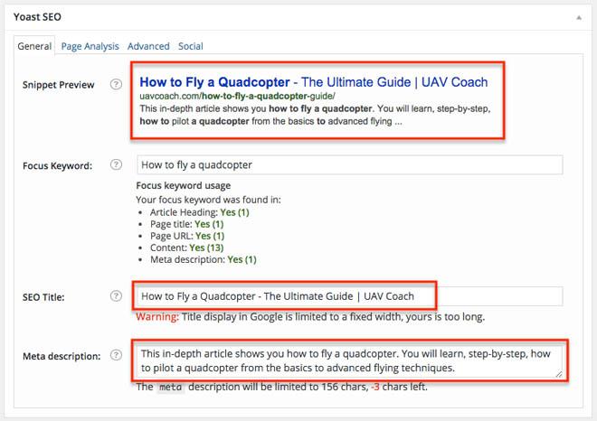 Using WordPress Yoast plugin for on-page optimization