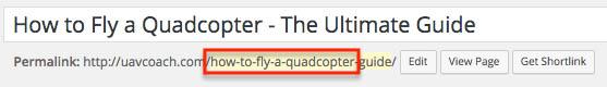 Include target keyword in beginning of post URL