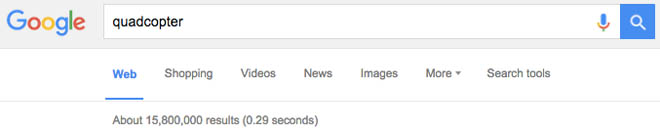 Search engine ranking screenshot