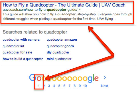 Ranking at the bottom of page 1 for a massive keyword