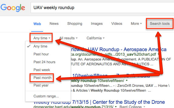 Building links with weekly roundups
