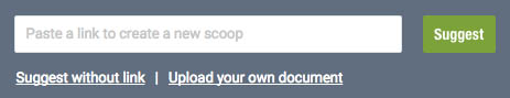 Submit content to Scoop.it pages