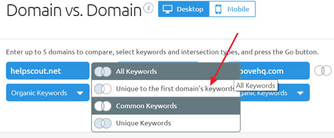 Remove overlapping keywords by choosing the