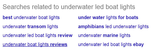 Google related search functionality