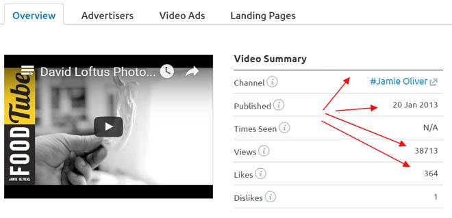 Video ad summary