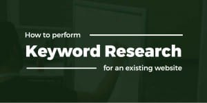 Keyword research for an existing website