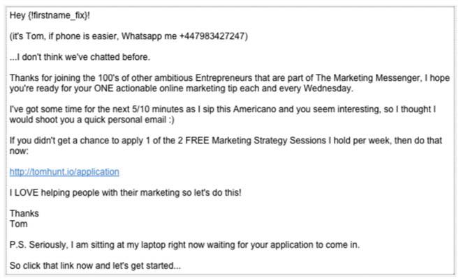 Autoresponder email 1
