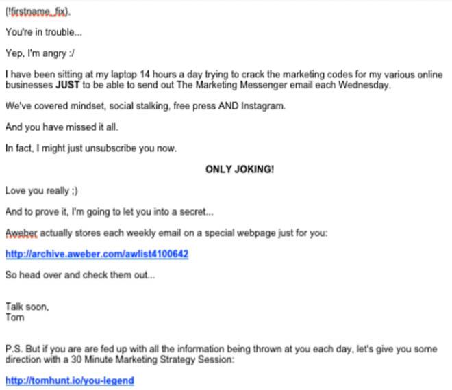 Autoresponder email 2