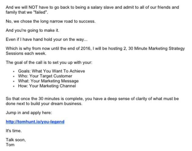 Autoresponder email 5