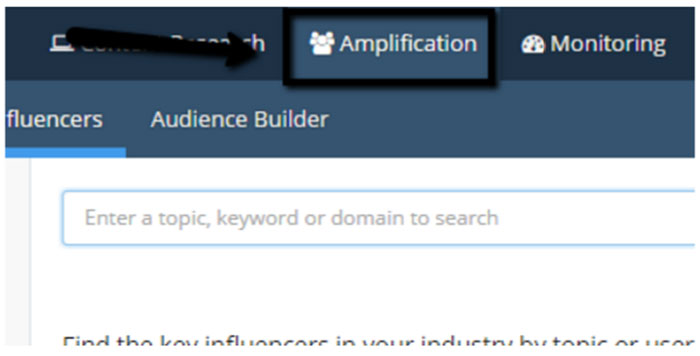 Buzzsumo amplification