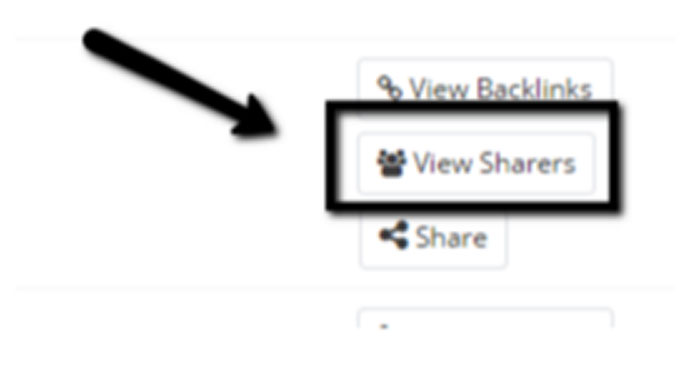 View everyone who shared specific posts in Buzzsumo