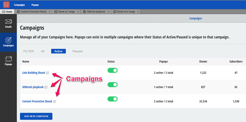 Setting up campaigns with the Sumome List Builder app