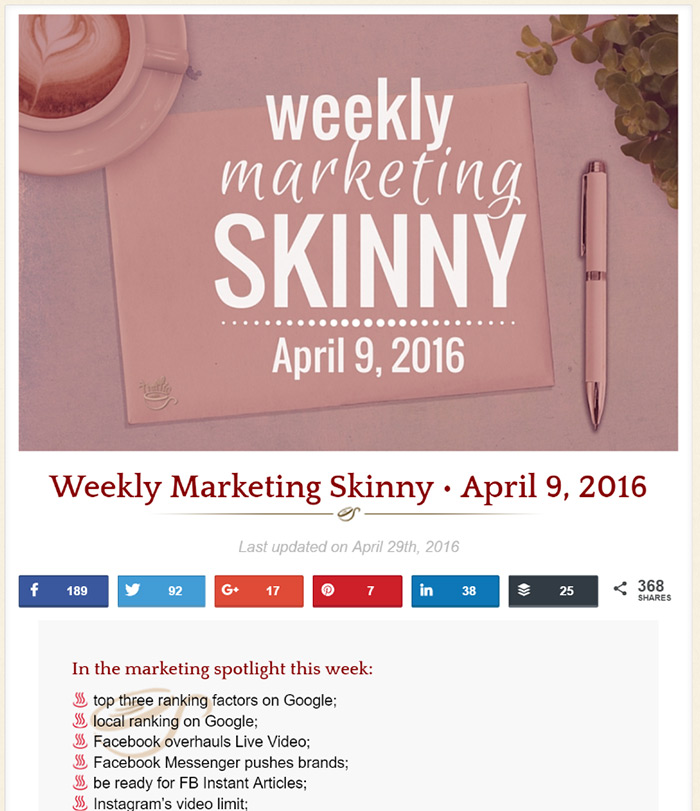 Link roundup from Traffic Generation Cafe