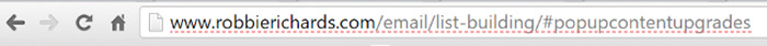 Jump-link-in-search-bar