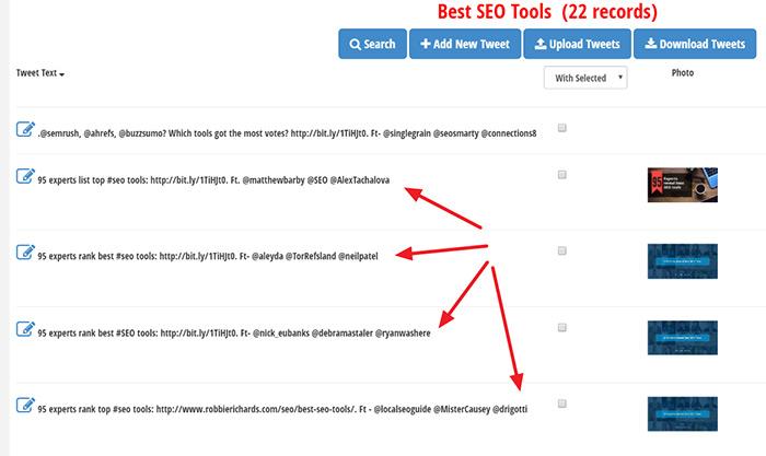 Recycling expert roundup content in Tweet Jukebox