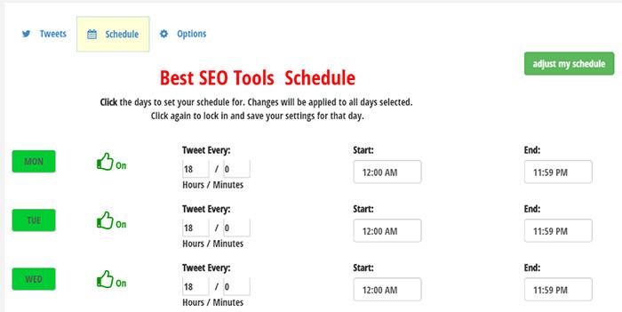 Tweet Jukebox Schedule