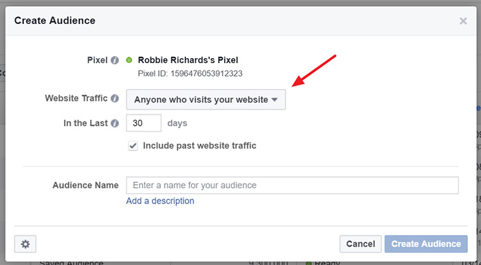 Website custom audience rules