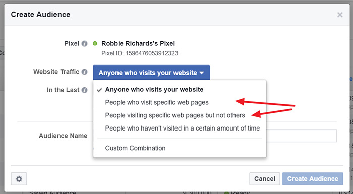 Capture visitors viewing specific pages