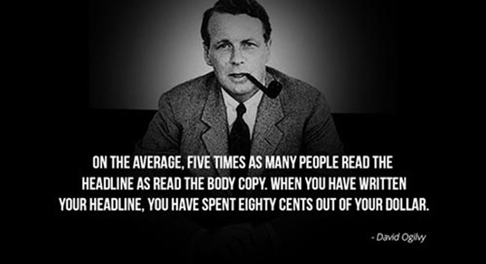 Ogilvy on headlines