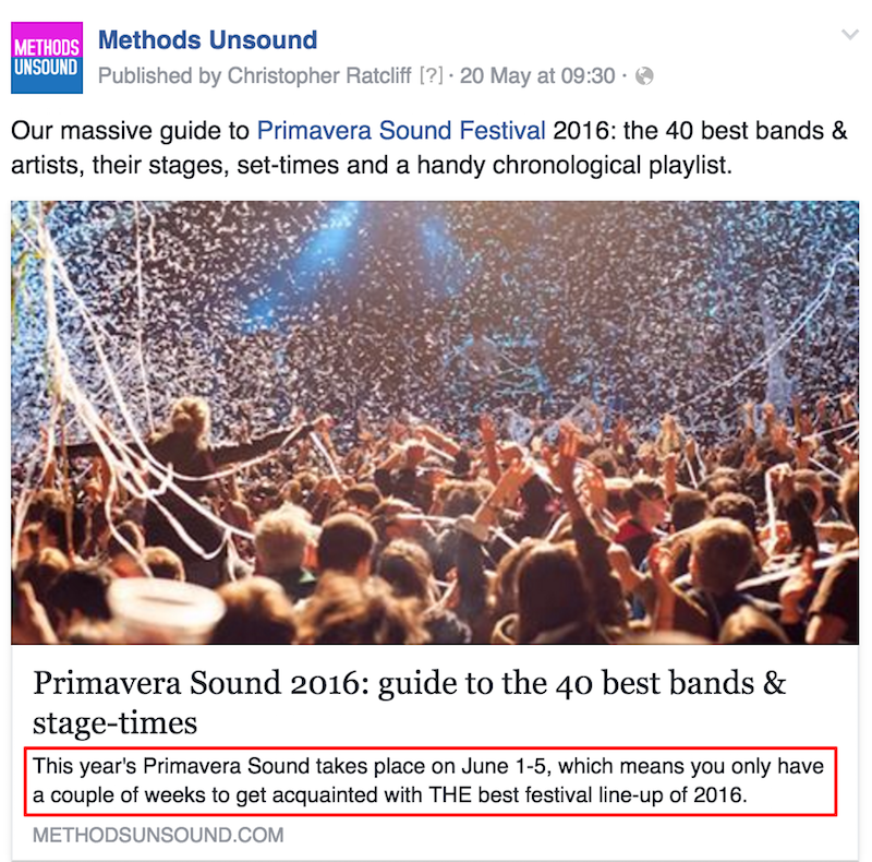 Primavera Sound social media snippet