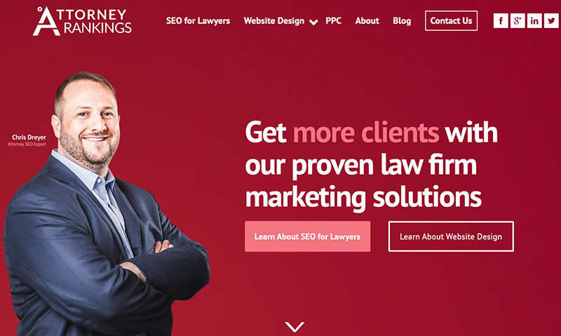 Attorney Rankings website example