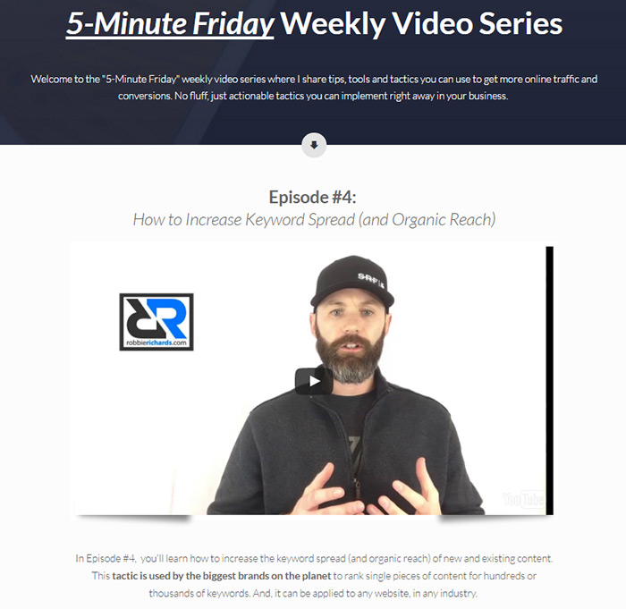 Weekly SEO video series