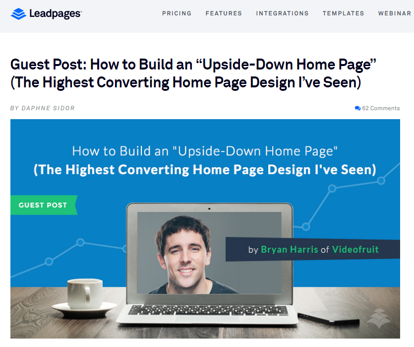 Bryan Harris article on LeadPages