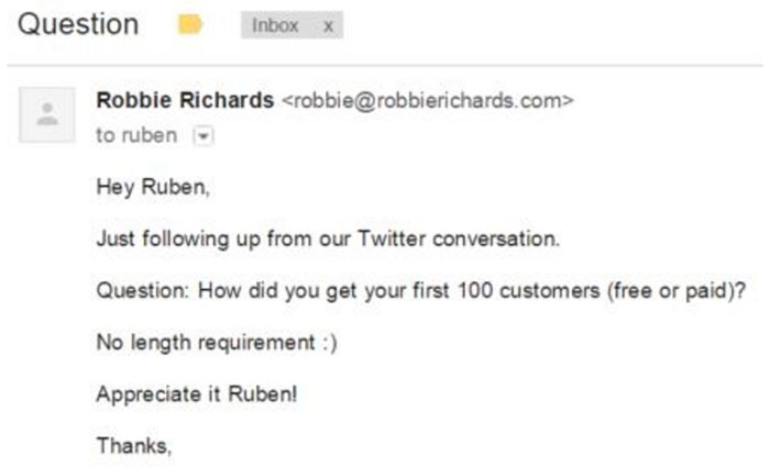 Bidsketch outreach email