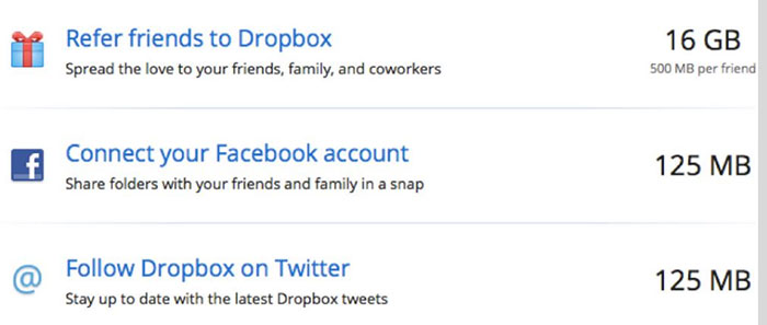 Dropbox referral growth engine