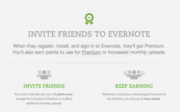 Evernote referral marketing