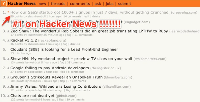 GrooveHQ on Hacker News