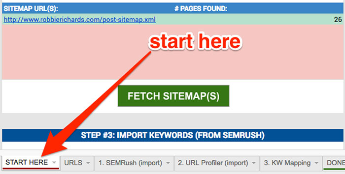 Step 1 of the on-page SEO checklist